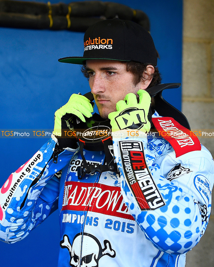 Adam Ellis of Poole Pirates during Poole Pirates vs Lakeside Hammers, Elite League Speedway at The Stadium on 6th April 2016