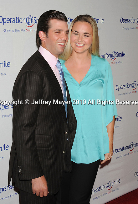 BEVERLY HILLS, CA. - September 24: Donald Trump, Jr. and Vanessa Trump attend the 9th Annual Operation Smile Gala at The Beverly Hilton Hotel on September 24, 2010 in Beverly Hills, California.