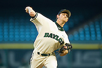 Relief pitcher Dillon Newman #28 of the Baylor Bears in action against the Utah Utes at Minute Maid Park on March 5, 2011 in Houston, Texas.  Photo by Brian Westerholt / Four Seam Images