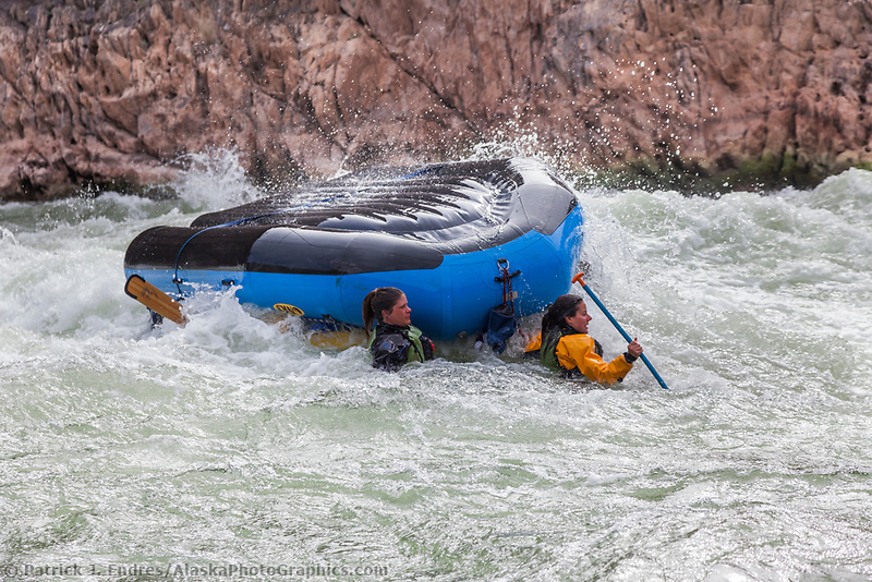 Whitewater rafting through Crystal rapids on the Colorado River in the Grand Canyon National Park, Arizona