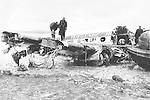 A KLM plane crash in Shannon which killed 28 people in 1954<br /> Picture by Donal MacMonagle