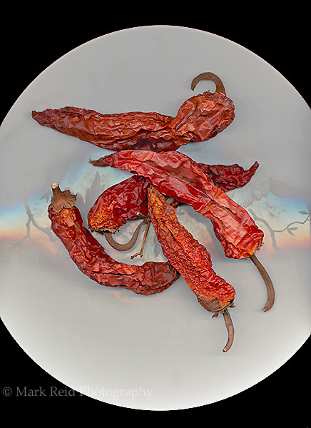 Dried peppers on a plate