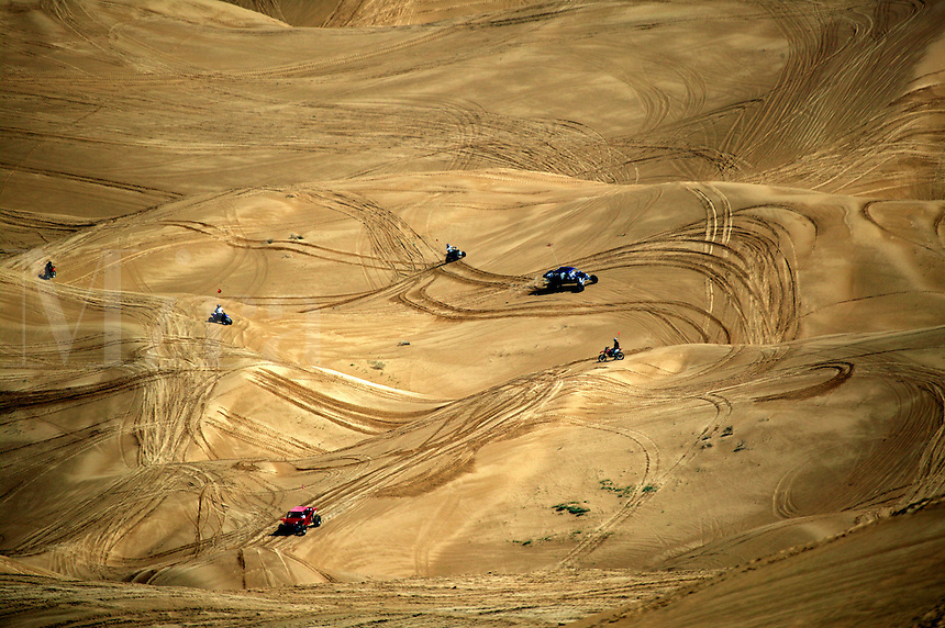 The off road vehicle recreation area of the Imperial Sand Dunes Recreation Area, Southern California
