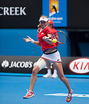 Ekaterina Makanrova (RUS) defeats Simona Halep (ROU) 6-4, 6-0 at the Australian Open being played at Melbourne Park in Melbourne, Australia on January 27, 2015
