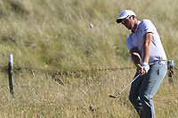 Sam Horsfield (ENG) chips onto the 2nd green during Friday's Round 2 of the 2018 Dubai Duty Free Irish Open, held at Ballyliffin Golf Club, Ireland. 6th July 2018.<br /> Picture: Eoin Clarke | Golffile<br /> <br /> <br /> All photos usage must carry mandatory copyright credit (&copy; Golffile | Eoin Clarke)