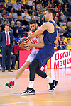 Turkish Airlines Euroleague 2017/2018.<br /> Regular Season - Round 28.<br /> FC Barcelona Lassa vs Baskonia Vitoria Gasteiz: 73-86.<br /> Patricio Garino vs Victor Claver.