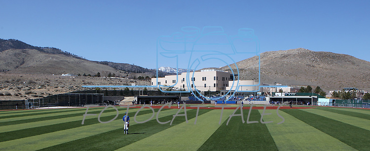 during a college baseball game in Carson City, Nev., on Friday, March 22, 2013..Photo by Cathleen Allison