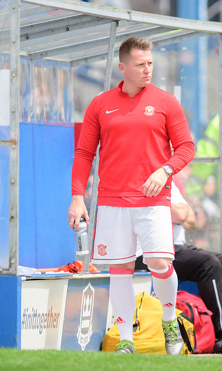 Lincoln United's assistant manager Nathan Jarman<br /> <br /> Photographer Chris Vaughan/CameraSport<br /> <br /> Football Pre-Season Friendly (Community Festival of Lincolnshire) - Lincoln City v Lincoln United - Saturday 6th July 2019 - The Martin & Co Arena - Gainsborough<br /> <br /> World Copyright © 2018 CameraSport. All rights reserved. 43 Linden Ave. Countesthorpe. Leicester. England. LE8 5PG - Tel: +44 (0) 116 277 4147 - admin@camerasport.com - www.camerasport.com