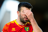 Norwich City's Grant Hanley reacts<br /> <br /> Photographer Alex Dodd/CameraSport<br /> <br /> The Premier League - Wolverhampton Wanderers v Norwich City - Sunday 23rd February 2020 - Molineux - Wolverhampton<br /> <br /> World Copyright © 2020 CameraSport. All rights reserved. 43 Linden Ave. Countesthorpe. Leicester. England. LE8 5PG - Tel: +44 (0) 116 277 4147 - admin@camerasport.com - www.camerasport.com