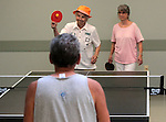 Mildred Swiec, left, and Shirley Ling play ping pong at the Carson City Senior Citizen Center in Carson City, Nev., on Wednesday, Aug. 22, 2012..Photo by Cathleen Allison