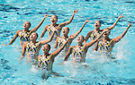 Japan team group (JPN), AUGUST 19, 2016 - Synchronized Swimming : Teams Free Routine Final at Maria Lenk Aquatic Centre during the Rio 2016 Olympic Games in Rio de Janeiro, Brazil. (Photo by Enrico Calderoni/AFLO SPORT)