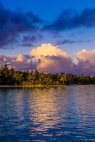 Sunset, Bora Bora, French Polynesia.