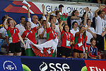 Glasgow 2014 Commonwealth Games<br /> Welsh swimming squad members cheering on Jazz Carlin in the women's 1500m Backstroke.<br /> <br /> 28.07.14<br /> &copy;Steve Pope-SPORTINGWALES