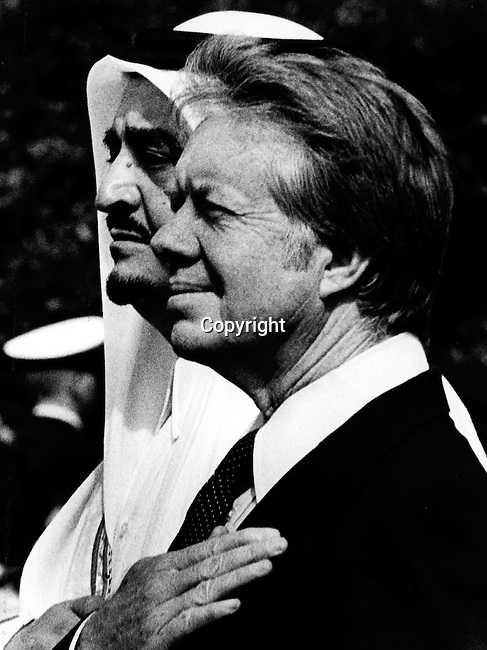 Sheikh Zayed bin Sultan Al Nahyan principal architect of United Arab Emirates with President Jimmy Carter,