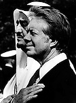 Sheikh Zayed bin Sultan Al Nahyan principal architect of United Arab Emirates with President Jimmy Carter,