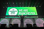 © Joel Goodman - 07973 332324 . No Editorial syndictaion permitted . 09/09/2017. Manchester , UK . Tony Walsh (aka Longfella) reads his poem , This is the Place . We Are Manchester reopening charity concert at the Manchester Arena with performances by Manchester artists including  Noel Gallagher , Courteeners , Blossoms and the poet Tony Walsh . The Arena has been closed since 22nd May 2017 , after Salman Abedi's terrorist attack at an Ariana Grande concert killed 22 and injured 250 . Money raised will go towards the victims of the bombing . Photo credit : Joel Goodman