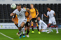Ben Wilmot of Swansea City in action during the Carabao Cup Second Round match between Swansea City and Cambridge United at the Liberty Stadium in Swansea, Wales, UK. Wednesday 28, August 2019.