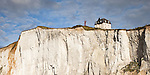 House on the Cliff overlooking the English Channel in Ault.