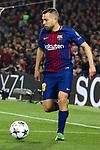 UEFA Champions League 2017/2018.<br /> Round of 16 2nd leg.<br /> FC Barcelona vs Chelsea FC: 3-0.<br /> Jordi Alba.