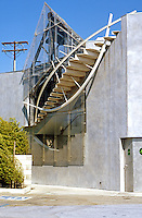 Eric Owen Moss: 8522 National Bldg., Culver City. Detail. Photo 1999.