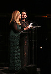 Charlotte Caffey and Jane Wiedlin on stage at the  2017 Dramatists Guild Foundation Gala presentation at Gotham Hall on November 6, 2017 in New York City.