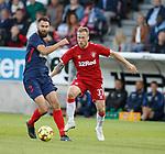 08.08.2019 FC Midtjylland v Rangers: Tim Sparv and Scott Arfield