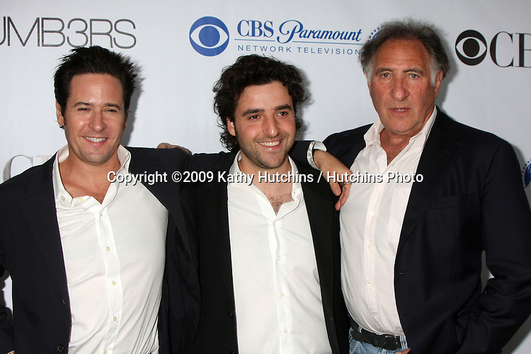 Rob Morrow, David Krumholtz, and Judd Hirsch arriving at the Numb3rs 100th Episode Party at the Sunset Tower Hotel in West Hollywood,  California on April 21, 2009.©2009 Kathy Hutchins / Hutchins Photo....                .