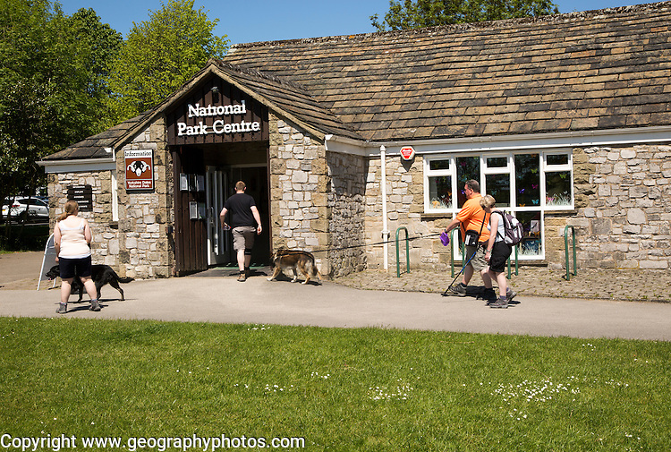National Park Centre building, Malham village, Yorkshire Dales national park, England, UK