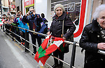 "People wait the ""19th Korrika"" in Tutera on March 26, 2015, Basque Country. The ""19th Korrika"" is a relay of hand to hand baton passing without interruption over 11 days and 10 nights crossing many Basque villages and cities, totalling some 2300 kilometres in a bid to promote the basque language.The ""Korrika"" this year end in Bilbao on March 29. (Ander Gillenea / Bostok Photo)"
