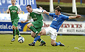 24/02/2007       Copyright Pic: James Stewart.File Name : sct_jspa05_qots_v_hibernian.SCOTT BROWN IS CHALLENGED BY NEIL SCALLY.....James Stewart Photo Agency 19 Carronlea Drive, Falkirk. FK2 8DN      Vat Reg No. 607 6932 25.Office     : +44 (0)1324 570906     .Mobile   : +44 (0)7721 416997.Fax         : +44 (0)1324 570906.E-mail  :  jim@jspa.co.uk.If you require further information then contact Jim Stewart on any of the numbers above.........
