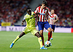 Atletico de Madrid's Alvaro Morata and Getafe CF's Djene Dakonam during La Liga match. Aug 18, 2019. (ALTERPHOTOS/Manu R.B.)Atletico de Madrid's Alvaro Morata and Getafe CF's Djene Dakonam  during the Spanish La Liga match between Atletico de Madrid and Getafe CF at Wanda Metropolitano Stadium in Madrid, Spain