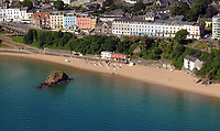 Pictured: The row of properties where Croft House is located in Tenby, west Wales.<br /> Re: A holiday home where Beatrix Potter drew parts of The Tale of Peter Rabbit is up for sale.<br /> The renowned author wrote a letter from the seaside home in Tenby, Pembrokeshire, in 1900 telling tales of rabbits living in the cliffs.<br /> She was also inspired by the garden of the Grade II-listed Georgian property and painted a lily pond that was used in the book.<br /> Croft House has been put on the market for &pound;1.8m.<br /> The building was once split into two houses - with Potter staying at number two.<br /> Andrew Lowe, whose family have owned the property since 1964, said that in 1900 Ms Potter wrote four 'Tenby letters' to the children of governess Annie Moore.<br /> &quot;She also did two paintings of the garden of Croft House, no longer part of the property,&quot; he continued.<br /> &quot;The lily pond illustration that appears in The Tale of Peter Rabbit was taken from one of these paintings.&quot;