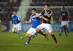 Hearts v St Johnstone.....05.03.13      SPL.Mehdi Abeid and Danny Wilson.Picture by Graeme Hart..Copyright Perthshire Picture Agency.Tel: 01738 623350  Mobile: 07990 594431