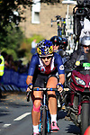 Chloe Dygert (USA) chases in 2nd place on the 2nd circuit of Harrogate during the Women Elite Road Race of the UCI World Championships 2019 running 149.4km from Bradford to Harrogate, England. 28th September 2019.<br /> Picture: Andy Brady | Cyclefile<br /> <br /> All photos usage must carry mandatory copyright credit (© Cyclefile | Andy Brady)