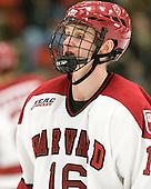 Alex Fallstrom (Harvard - 16) - The Harvard University Crimson defeated the visiting Clarkson University Golden Knights 3-2 on Harvard's senior night on Saturday, February 25, 2012, at Bright Hockey Center in Cambridge, Massachusetts.