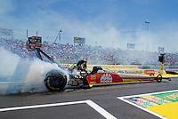 Jun. 1, 2014; Englishtown, NJ, USA; NHRA top fuel driver Doug Kalitta during the Summernationals at Raceway Park. Mandatory Credit: Mark J. Rebilas-