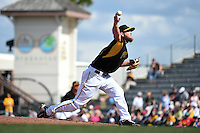 Pittsburgh Pirates pitcher Josh Wall (61) during a Spring Training game against the Minnesota Twins on March 13, 2015 at McKechnie Field in Bradenton, Florida.  Minnesota defeated Pittsburgh 8-3.  (Mike Janes/Four Seam Images)