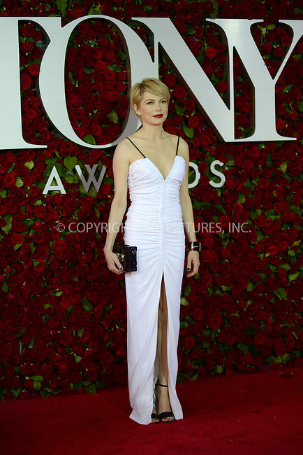 www.acepixs.com<br /> June 12, 2016  New York City<br /> <br /> Michelle Williams attending the 70th Annual Tony Awards at The Beacon Theatre on June 12, 2016 in New York City.<br /> <br /> Credit: Kristin Callahan/ACE Pictures<br /> <br /> <br /> Tel: 646 769 0430<br /> Email: info@acepixs.com