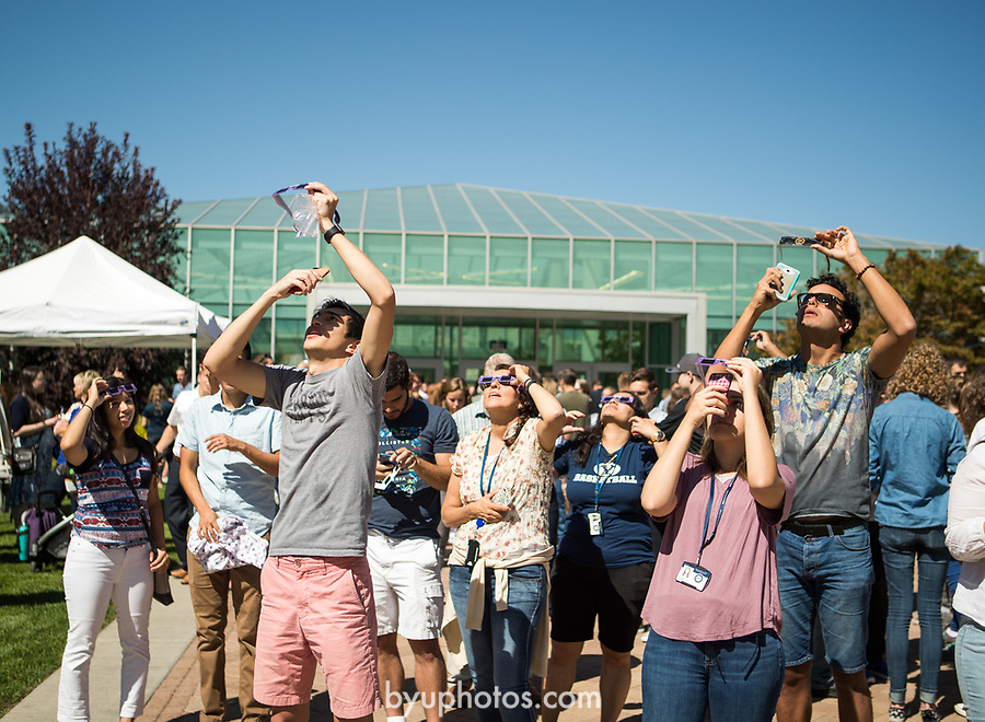 Eclipse_4<br /> <br /> Solar Eclipse on BYU Campus<br /> <br /> August 21, 2017<br /> <br /> Photography by Savanna Richardson/BYU<br /> <br /> &copy; BYU PHOTO 2017<br /> All Rights Reserved<br /> photo@byu.edu  (801)422-7322