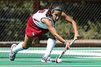 26 August 2006: Stanford Cardinal Caroline Hussey during Stanford's 2-1 win against Massachusetts Amherst at the Varsity Field Hockey Turf in Stanford, CA.