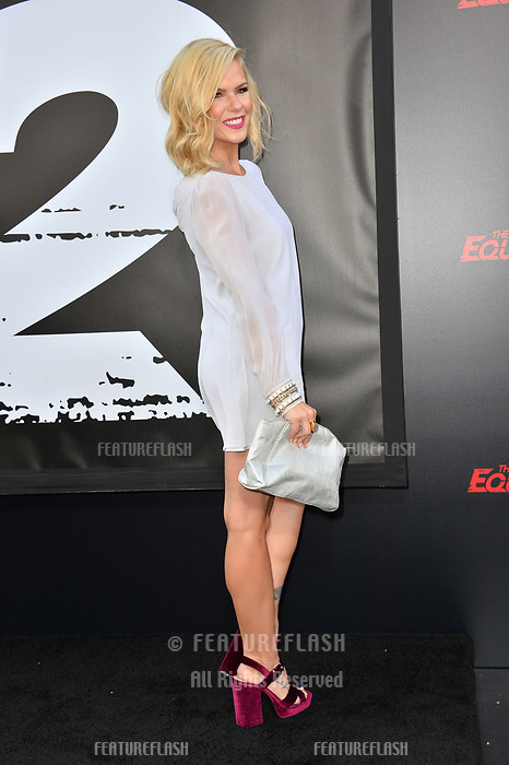 Kimberly Caldwell-Harvey at the premiere for &quot;The Equalizer 2&quot; at the TCL Chinese Theatre, Los Angeles, USA 17 July 2018<br /> Picture: Paul Smith/Featureflash/SilverHub 0208 004 5359 sales@silverhubmedia.com
