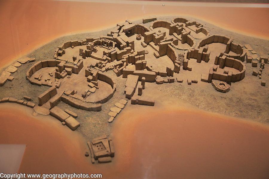 Tarxien temple model in National Museum of Archaeology, Valletta, Malta