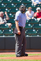 Home plate umpire Mike Walsh during the Carolina League game between the Wilmington Blue Rocks and the Winston-Salem Dash at BB&T Ballpark on April 24, 2011 in Winston-Salem, North Carolina.   Photo by Brian Westerholt / Four Seam Images