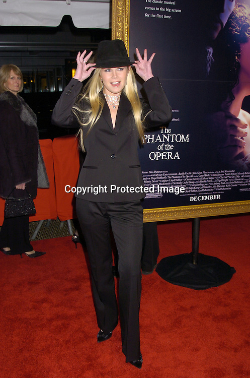 """Crystal Hunt ..at The New York Premiere of """"Phantom of the Opera"""" on ..December 12, 2004 at the Ziegfeld Theatre. ..Photo by Robin Platzer, Twin Images"""