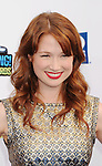 SANTA MONICA, CA - AUGUST 19: Ellie Kemper arrives at the 2012 Do Something Awards at Barker Hangar on August 19, 2012 in Santa Monica, California.