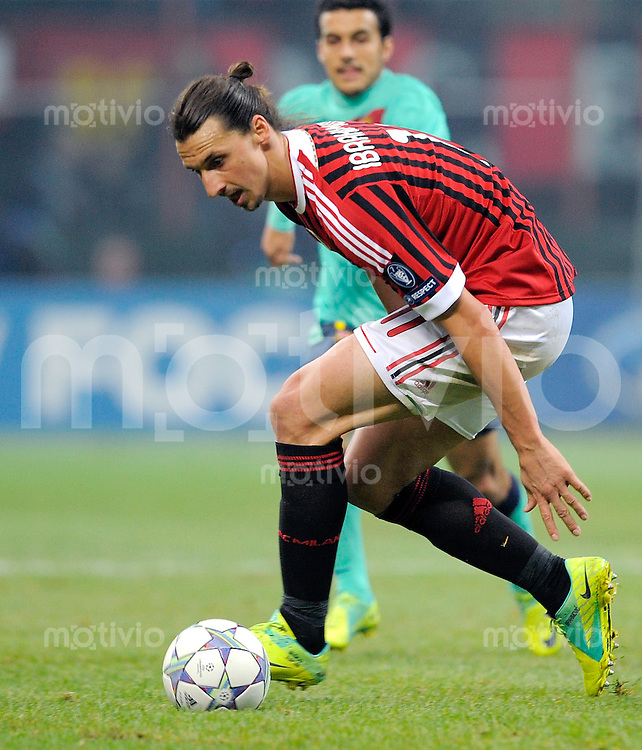 FUSSBALL   CHAMPIONS LEAGUE   SAISON 2011/2012     23.11.2011 AC Mailand - FC Barcelona Zlatan Ibrahimovic (AC Mailand)