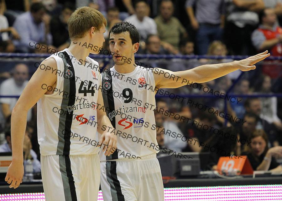 Kosarka Euroleague season 2012-2013.Partizan Vs. CSKA (Moscow).Leo Westermann and Davis Bertans.Beograd, 18.10.2012..foto: Srdjan Stevanovic/Starsportphoto ©