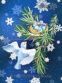 Randy, CHRISTMAS SYMBOLS, WEIHNACHTEN SYMBOLE, NAVIDAD SÍMBOLOS, paintings+++++Wintering-Birds-Nesting-In-Winter-print,USRW211,#xx#