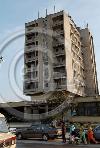 Shkodra/Shkoder-Albania - August 05, 2004---The formerly state-run Hotel Rozafa in the centre of the city of Shkodra; project area of GTZ-Wiram-Albania (German Technical Cooperation, Deutsche Gesellschaft fuer Technische Zusammenarbeit (GTZ) GmbH); infrastructure---Photo: Horst Wagner/eup-images