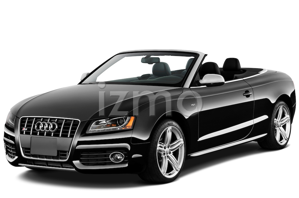 Front three quarter view of a 2010 - 2011 Audi S5 Cabriolet